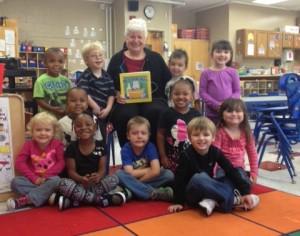 Reader with children